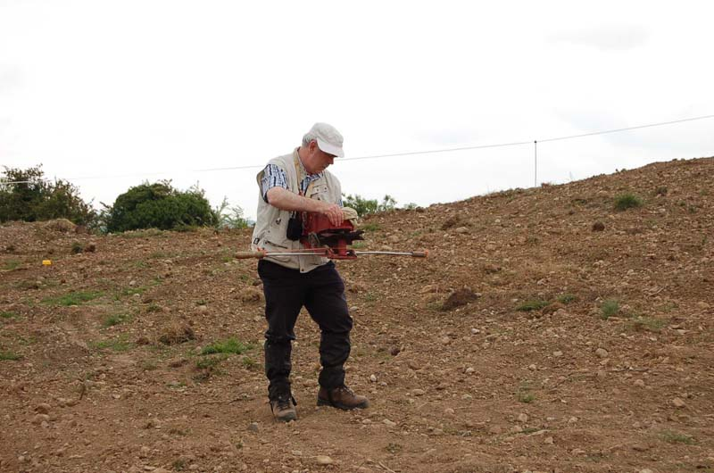 Sowing the traditional way with fiddleImage by Michael Martyn